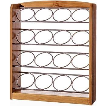 homeline bambus und metall dolce gusto kapselhalter 16 c psulas k che haushalt. Black Bedroom Furniture Sets. Home Design Ideas