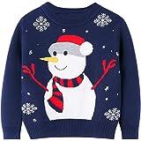 Nemopter Jersey para niños de Navidad o de invierno con cuello redondo, cómodo, transpirable, suave y transpirable, adecuado