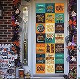 FUZILV Halloween 77 * 200 cm Fenster Tür Aufkleber Trick Or Treat/Kinder Kürbis Abnehmbare Aufkleber Tür Poster Urlaub Dekor Wandaufkleber