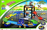 Curtis Toys 57 Pieces Race Track Set with Metal Plane and Metal car