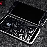 3D Diamond Pattern Mirror Front + Back Tempered Glass Screen Protector for Apple Iphone 5, 5S - BLACK