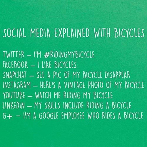 Social Media Explained - Bicycles T-Shirt, Herren Keltisch-Grn