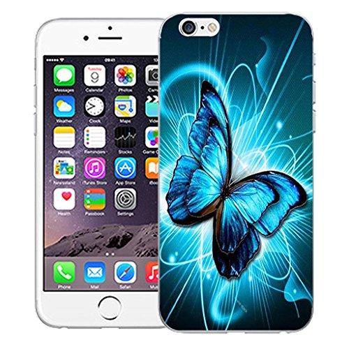 """Nouveau iPhone 6 4.7"""" inch clip on Dur Coque couverture case cover Pare-chocs - vert dragon Motif avec Stylet futureistic butterfly"""