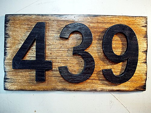 personalised house number sign plaque rustic house address signs