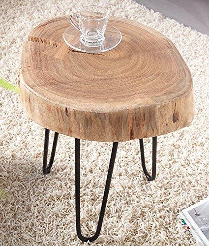 Tavolino Goa, in legno massiccio di acacia, 40 cm #