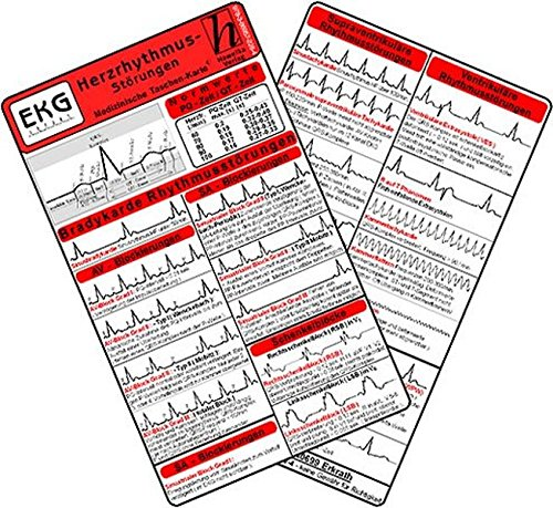 Herzrhythmusstörungen - Medizinische Taschen-Karte