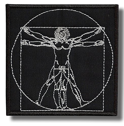 Sacred geometry Man - embroidered patch, 10 X 10 cm.