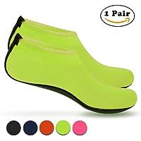 Nlife Barefoot Water Shoes Aqua Socks Sand Socks for Beach Surf Piscina Swim Yoga Aerobics Barefoot Acqua Scarpe Aqua Calzini Sand Calzini per Beach Surf Piscina Swim Yoga Aerobica (1Pair, M–XXXL)