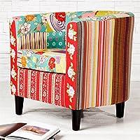 Preisvergleich für DESIGN DELIGHTS CLUBSESSEL FLORAL Patchwork Blumen Sessel fröhlich bunt gemustert von Xtradefactory