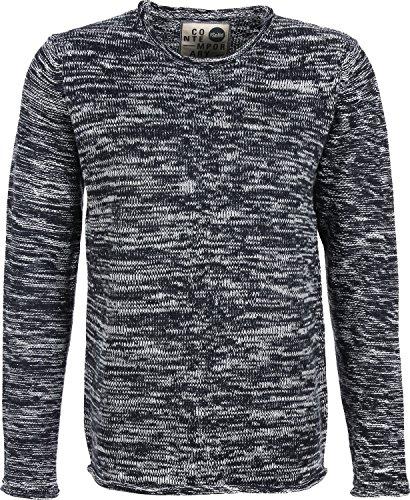 Solid Jono pull en laine gris chiné