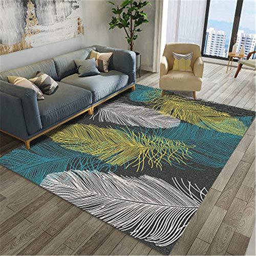 ZHAOXUAN Nordic Teppich Wohnzimmer Teppich Moderne Druck 104d Geometric Flooring Teppich Anti-Rutsch-Anti-Flecken-Teppich