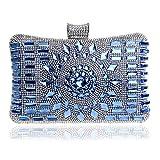 Eeayyygch Sac de soirée en Perles de Cristal pour Femmes, Sac de soirée d'embrayage Sac à Main en Forme de Diamant pour Le Sac de soirée de Mariage (coloré : A, Taille : 6x12x20cm(2x5x8inch))