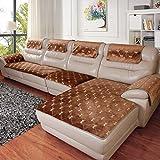Sofa abdeckungen für ledersofa,Vier jahreszeiten-anti-rutsch sofa-set von modernen stoff abdeckung winter sofa matte für wohnzimmer-C 60x76cm(24x30inch)