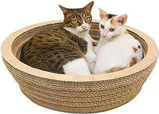 AITOCO Pet Kratzbrett, Schüssel, Kratzbaum groß Platz Kratzfläche Pets Nest Spielzeug für Schleifstifte Klauen Body Massage Rest Kratzern Sleeping Ausruhen