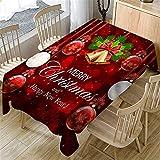 SONGHJ Polyester Bonhomme de Neige de Noël Nappe de Table de Mariage rectangulaire étanche Maison Halloween Party Table Cover C 150x300cm / 59x118in