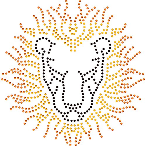 Twisted Envy astratto testa di leone diamante motivo T Shirt Transfer Iron on hotfix Gem