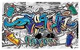 2294VE, Fototapete, Graffiti, Jugend-Zimmer, für Jungen, Wandgemälde, 312cm x 219cm (WxH)