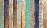 Tapeto Fototapete - Holz Zaun Planken - Vlies 368 x 254 cm (Breite x Höhe) - Wandbild Bretter