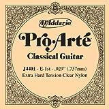 D\'Addario Corde seule en nylon pour guitare classique D\'Addario Pro-Arte J4401, Extra Hard, première corde