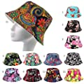 Damen Herren Sonnenhut Sommerhut Baumwolle Hüte Hat mit Verschiedene Muster