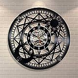 OOFAY Clock@ Disco In Vinile Orologio Da Parete Binocolo Famiglia Muro Decorazione Creatività Arte Astronomica/Diametro 30 Cm