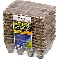 STOCKER Vasetto Quadrato di fibra di torba 144 vasetti