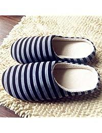 LOMYEN Home Scarpe Pantofola per Interni Regalo Natalizio Invernale Pantofole Da Casa con Fondo Spesso Pantofole Antiscivolo Invernali,36/37