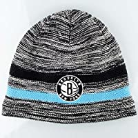 timeless design 10986 ca234 Mitchell   Ness Brooklyn Nets Static Team Stripe NBA Knit Hat