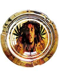Bob Marley León orgullo marihuana Weed de cristal redondo cenicero