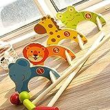 Sharplace Tierform Kricket / Minigolf Set - Inkl 2 Schlägel, 2 Bälle, 4 Tier Tore - Kinder Outdoor Garten Spielzeug