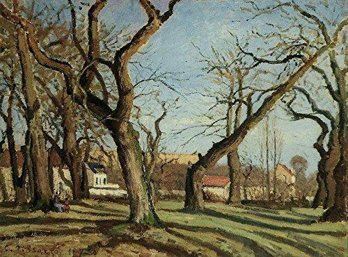 Die Museum Outlet-Groves der Kastanienbäume bei Louveciennes, 1872, gespannte Leinwand Galerie verpackt. 29,7x 41,9cm
