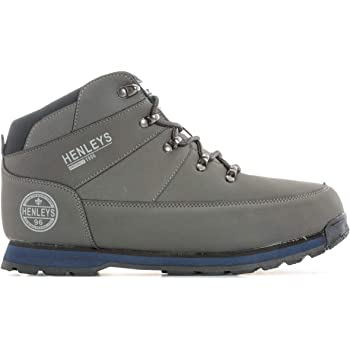 92a80b1be5c Henleys Mens Mens Woodland Boots in Grey - UK 9: Amazon.co.uk: Shoes ...