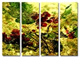 SENSATIONSPREIS! Bild auf Leinwand – modern Art Design (Grape_4x30x100cm) Kunstdruck auf Rahmen mit Bilder Motiv (abstrakt Traube Blätter Knospen Konturen gelb grün rot) . Schnäppchen, ideal als Geschenk für Familie & Freunde. Schöner wohnen mit Foto als Bild - Picture at Home. 100% Made in Germany – Qualität aus Deutschland. Weitere schöne Foto Bilder im Bild Online Shop .