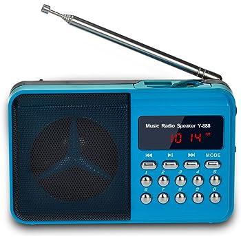 Tragbares Audio & Video Multi-funktionale Radio Lautsprecher Tragbare Mp3 Lautsprecher Player Lcd Digital Mini Fm Radio Lautsprecher Usb Sd Tf Karte
