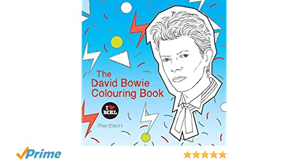 the david bowie colouring book amazoncouk mel elliott 9781786481207 books
