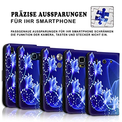 Wallet Book Style Flip Handy Tasche Case Schutz Hülle Schale Motiv Etui für Apple iPhone 6 / 6S - Variante UMV7 Design12 Design 7