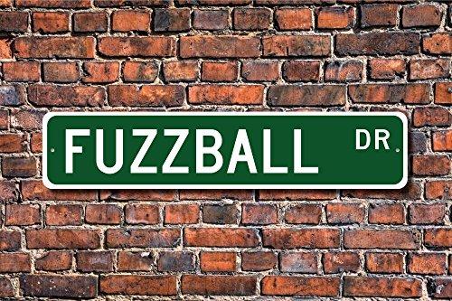 Celycasy Fuzzball Fuzzball Fuzzball Fan Fuzzball Geschenk Fuzzball Spieler Street Baseball Spiel Custom Street Schild Qualität Metallschild