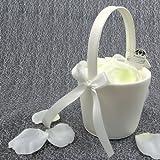 2x Streukörbchen Hochzeit EinsSein® Anna creme Blumenkinder Hochzeit Blumenkorb Blumenkörbe Blumenmädchen Blumendeko