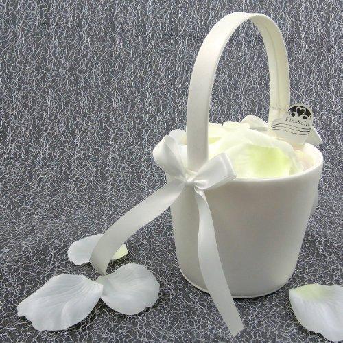 Preisvergleich Produktbild 2x Streukörbchen Hochzeit EinsSein® Anna creme Blumenkinder Hochzeit Blumenkorb Blumenkörbe Blumenmädchen Blumendeko