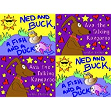 Ned and Buck, a Fish and a Duck & Ava the Talking Kangaroo Box Set