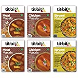 Tit-Bit  Meat Masala Mix Combo - Pack of 6 Contains Meat Masala - 100g, Chicken Masala - 100g, Biryani Masala - 100g