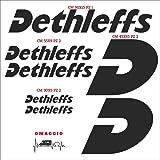 Aufkleber Set Stickers Dethleffs 02 Aufkleber Für Auto Und Auto Wohnmobil 0741 Rot 031 Rosso Sport Freizeit