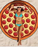 Homgomco Chiffon Strandtuch Handtuch Tischdecke Yoga Matte Schal Picknick Wandteppich Decke (Pizza)