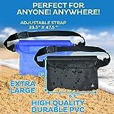 (2 Pack) Wasserdichte Tasche Beutel Handyhülle für Taille oder Schulter ideal zum Segeln, Wandern, Schwimmen, Angeln – sicherste Weg, Ihre Produkte trocken – 100% Garantie auf Lebenszeit - 3