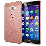 Samsung Galaxy A5 2016 Coque Protection de NICA, Ultra-Fine Glitter Housse Slim Hardcase Paillettes Cover, Etui Rigide Strass Bumper Mince pour Telephone Portable Samsung A5 2016 - Rose Gold Or