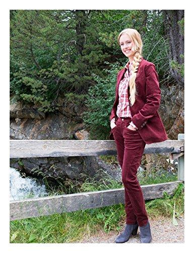 Brigitte von Boch - Damen - Maxton Samt-Reiterhose burgund, Größe:36 (Burgund Rot Samt)
