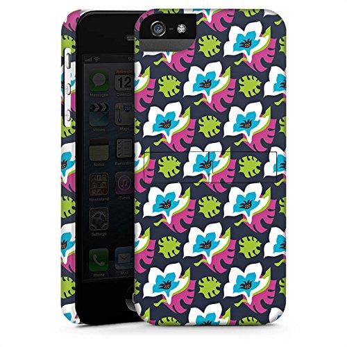 Apple iPhone X Silikon Hülle Case Schutzhülle Blumen Muster Bunt Premium Case StandUp