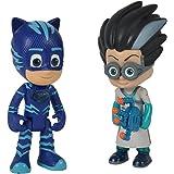 Simba 109402148 - PJ Masks figuurset Catboy en Romeo / Pyjamaheld en Bosegewicht / Catboy met licht / actiefiguren / beweegba