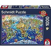 Schmidt 58288 Puzzle Scopriamo il Nostro Mondo 1000 Pezzi