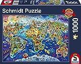 Schmidt Spiele Puzzle 58288 - Puzzle 1.000 Teile, Entdecke Unsere Welt
